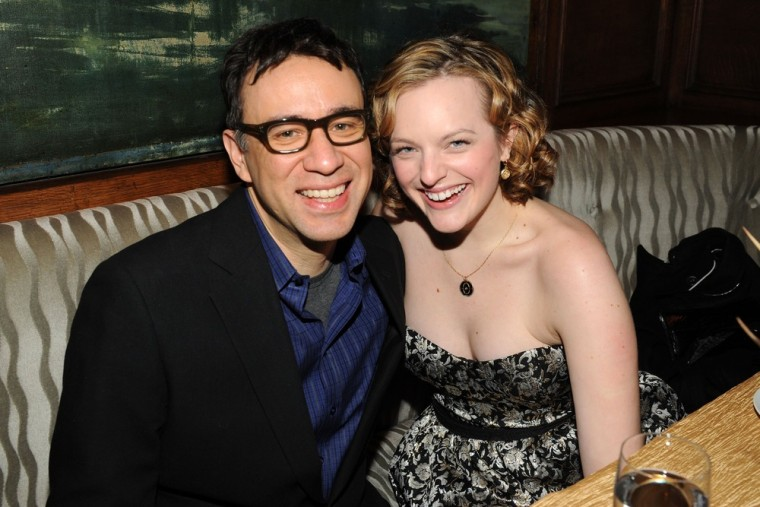 """NEW YORK - DECEMBER 14:  Actors Fred Armisen and Elisabeth Moss attends the premiere of \""""Did You Hear About the Morgans?\"""" after party at The Oak Room on December 14, 2009 in New York City.  According to reports May 19, 2011 Fred Armisen and Elisabeth Moss have finalized their divorce.  (Photo by Bryan Bedder/Getty Images)"""
