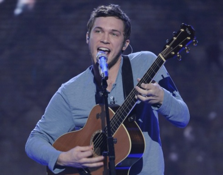 AMERICAN IDOL: Phillip Phillips performs in front of the Judges on AMERICAN IDOL airing Wednesday, March 7 (8:00-10:00 PM ET/PT) on FOX. CR: Michael Becker / FOX.