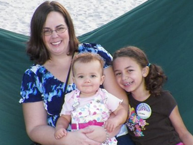 Candice Johnson and her children, Annika, 15 months, and Liliana, 6