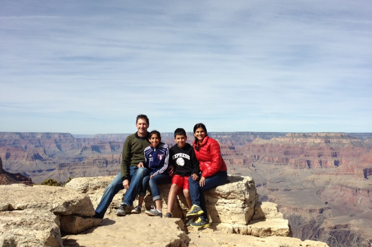 The White family checks one thing off the family bucket list: The Grand Canyon.