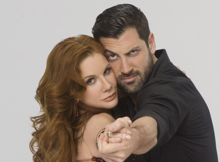 """DANCING WITH THE STARS - MELISSA GILBERT & MAKSIM CHMERKOVSKIY - Multi-talented Melissa Gilbert partners with Maksim Chmerkovskiy, who returns for his 12th season. The two-hour season premiere of \""""Dancing with the Stars\"""" airs MONDAY, MARCH 19 (8:00-10:01 p.m., ET) on the ABC Television Network. (ABC/BOB D'AMICO)"""