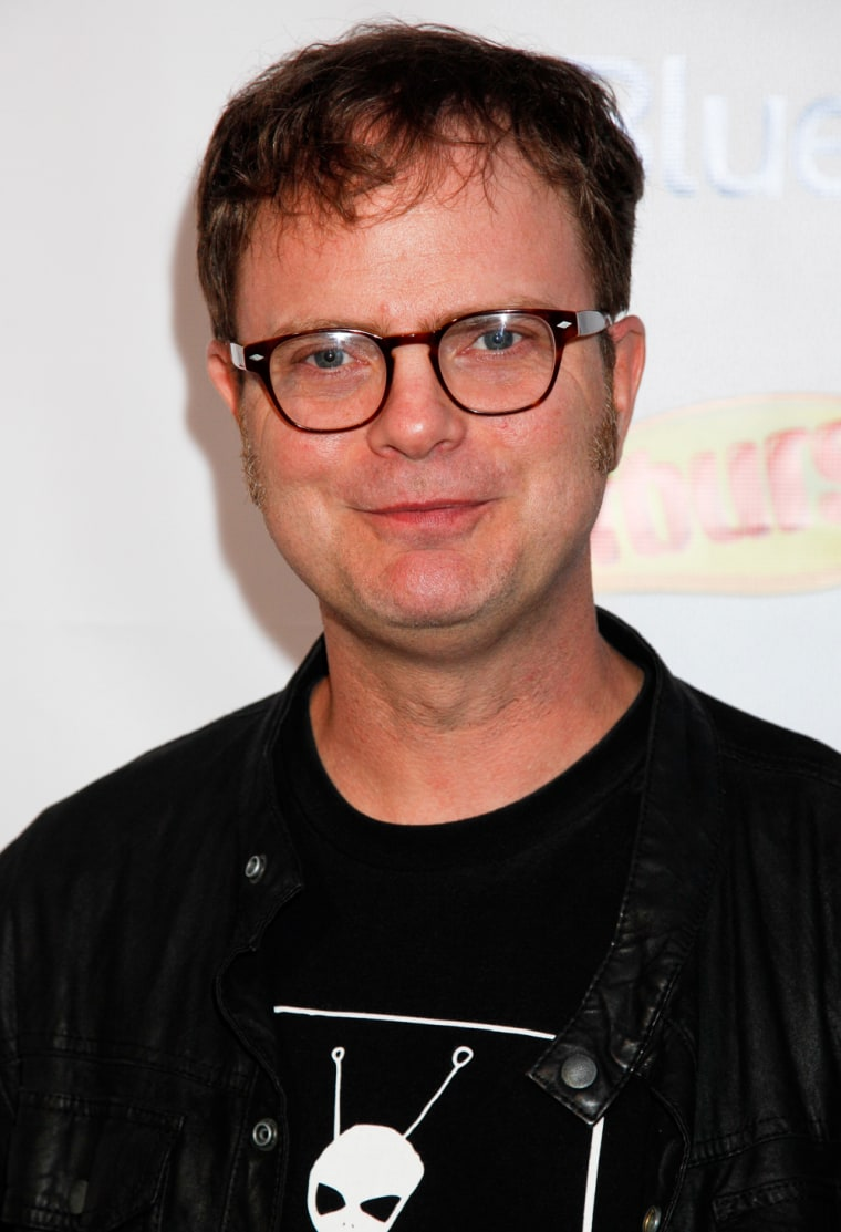 WEST HOLLYWOOD, CA - SEPTEMBER 22:  Actor Rainn Wilson attends the Starburst and VH1 Save TheMusic Foundation's Songwriters Music Series at the Sunset Marquis on September 22, 2011 in West Hollywood, California.  (Photo by Imeh Akpanudosen/Getty Images)