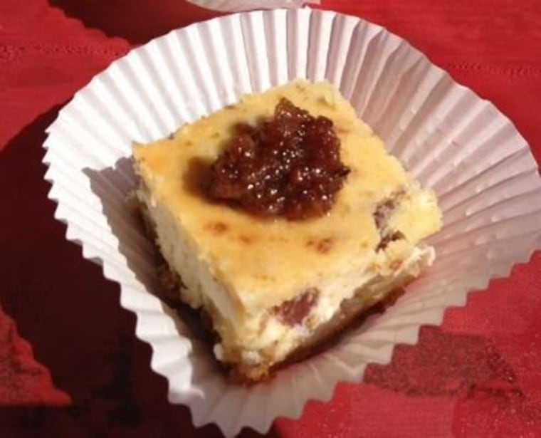Bacon cheesecake...yum!
