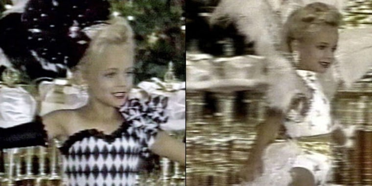 These stills from an undated Ramsey family video offer a glimpse of JonBenet Ramsey's pageant-filled past.