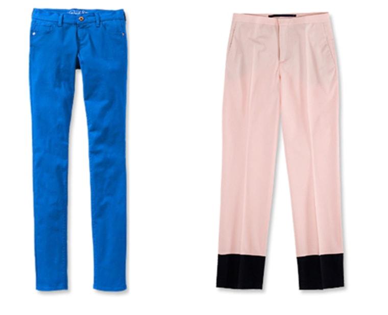 (left) Old Navy Cotton, $35; oldnavy.com(right) Zara Wool, $90; zara.com.