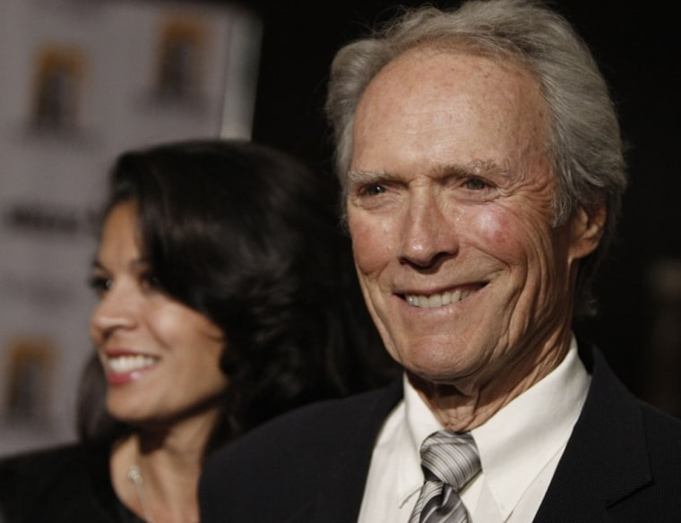 Clint Eastwood and wife Dina.