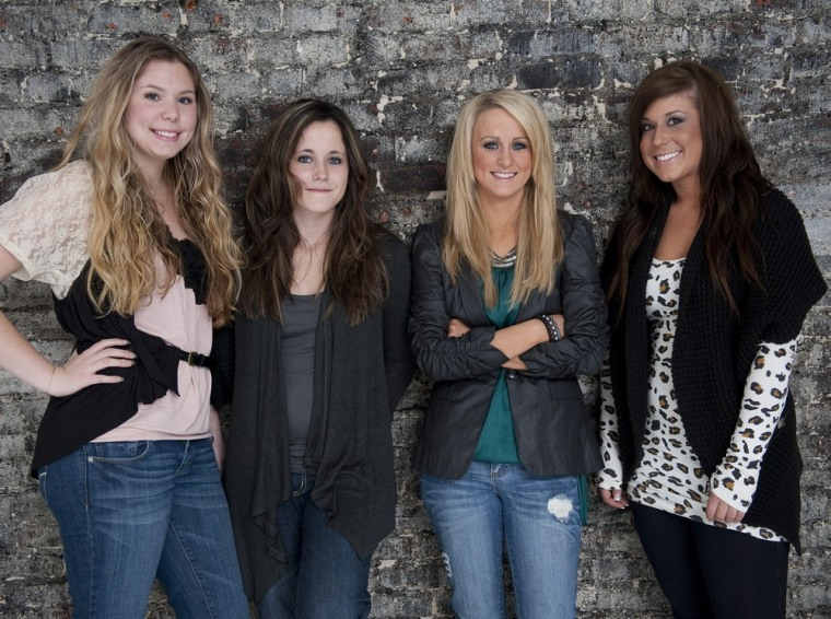 "The ladies of ""Teen Mom 2,"" from left, Kailyn Lowry, Jenelle Evans, Leah Simms and Chelsea Houska, will be back for season two on Dec. 6."