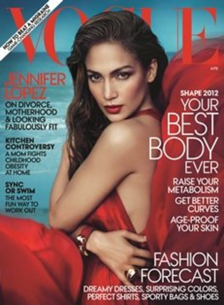 The April edition of Vogue.