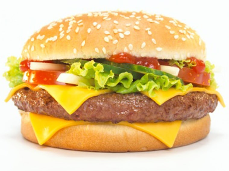 Cheeseburger, close-up, getty images, msnbc stock photography, Food And Drink, Square, Still Life, Studio Shot, Close-up, Cheese, Slice, Tomato, Lettuce, Indulgence, Hamburger, Sesame, Cucumber, Color Image, Take Out Food, Ready-To-Eat, Cheeseburger, Series, No People, Photography, Unhealthy Eating, Bun, White Background