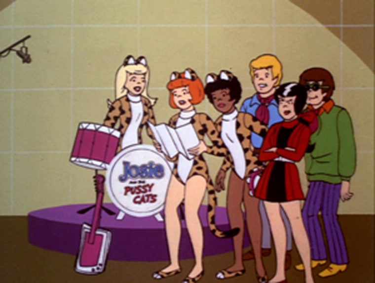 Screen capture from Josie and the Pussycats (1970 TV show).