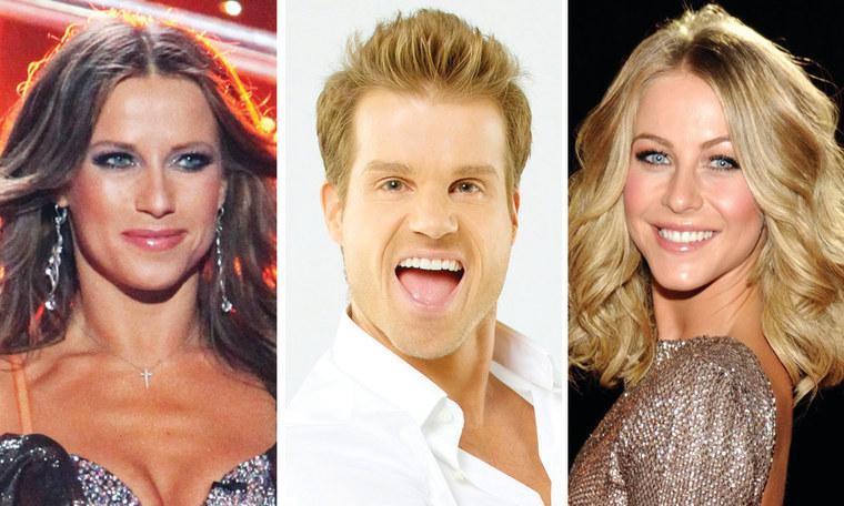 "Edyta Sliwinksa, Louis van Amstel and Julianne Hough of \""Dancing With the Stars.\"""