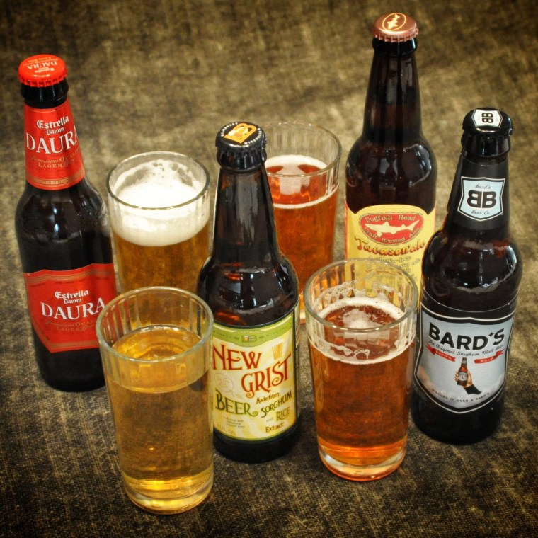 These are the four gluten-free beers I tried.