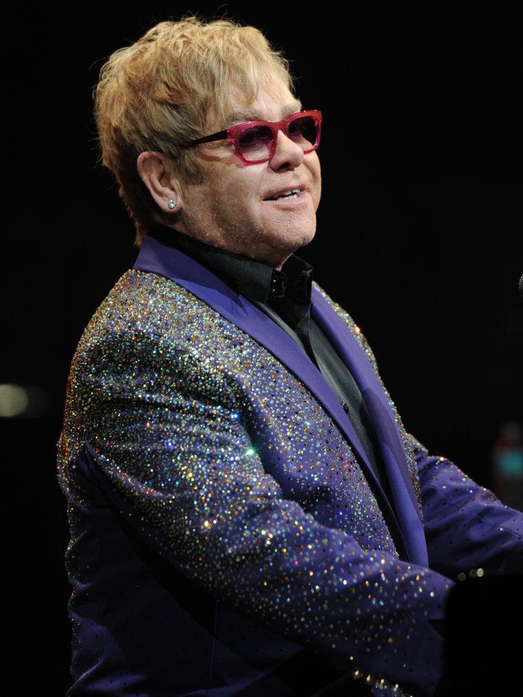 Elton John performs in Sunrise, Fla., on March 9.