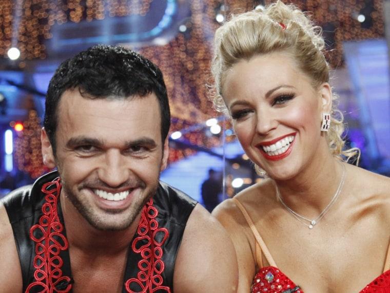 "Tony Dovolani with \""Dancing With the Stars\"" season 10 partner Kate Gosselin."