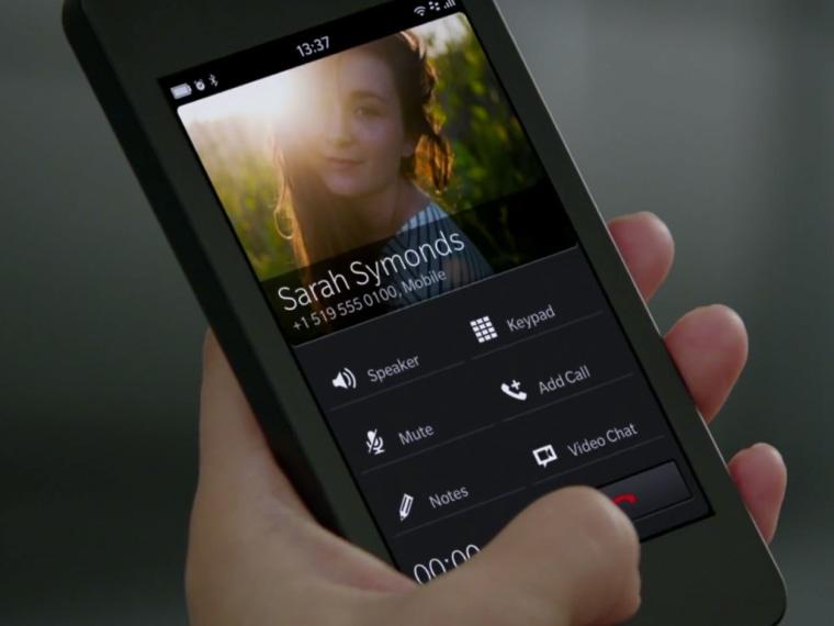 BlackBerry 10 call