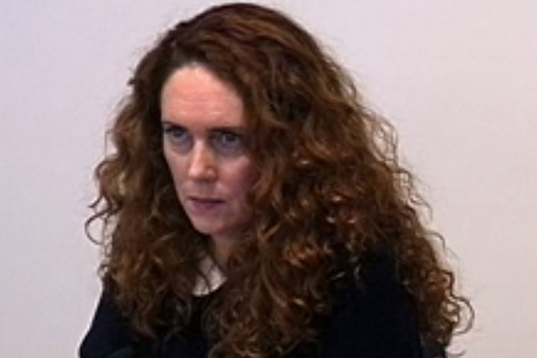 Former News International CEO Rebekah Brooks, testifies at the Leveson Inquiry.