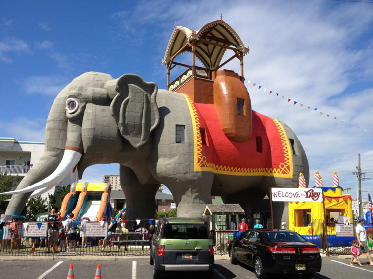 Lucy the Elephant as she was before Sandy swept through the New Jersey coast. The novelty building is older than the Statue of Liberty.