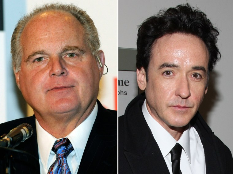 Rush Limbaugh may be played by John Cusack in an upcoming movie.