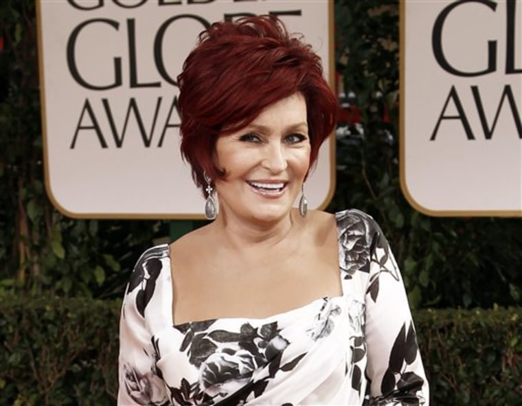 Sharon Osbourne at the Golden Globe Awards in January. Osbourne says she had a double mastectomy after learning she carries a gene that increases the risk of developing breast cancer.