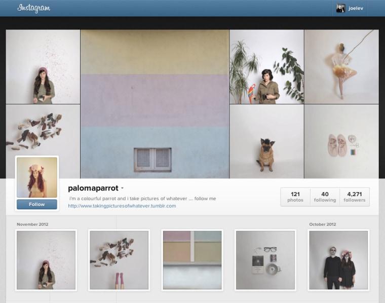 Screenshot of Instagram's new