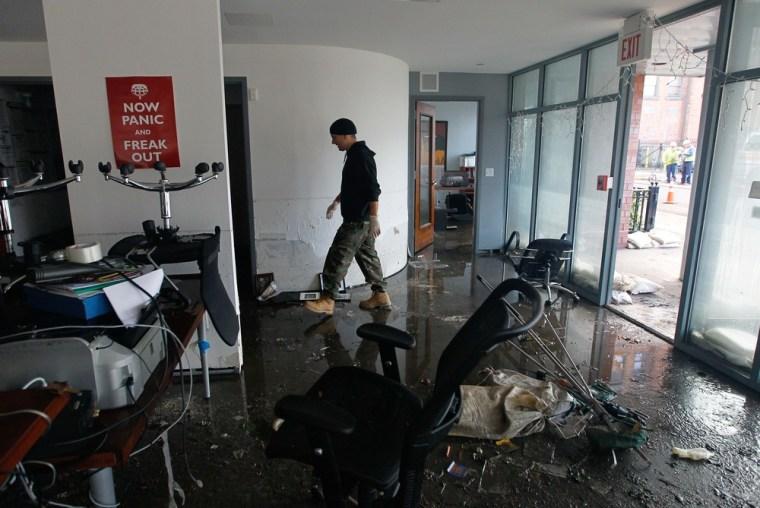 Image: Superstorm damage