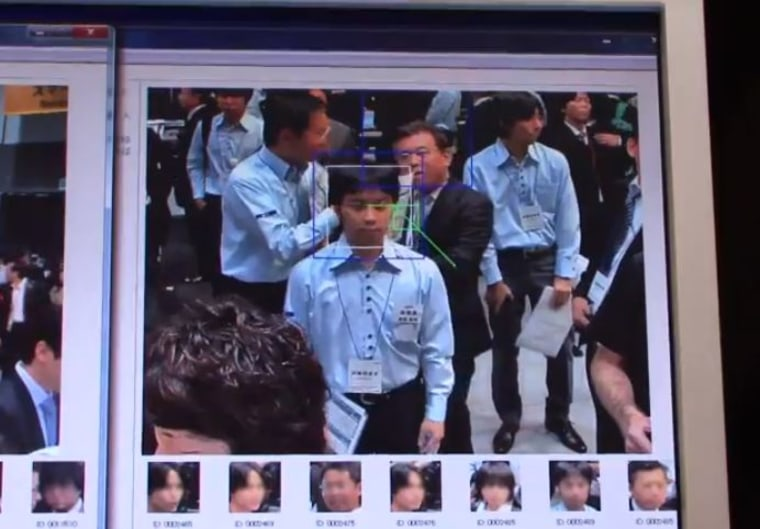 Image of facial recognition