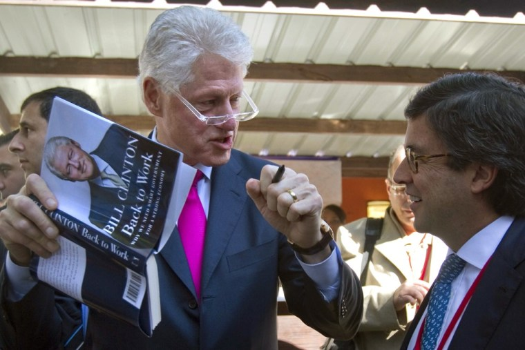 Bill Clinton, the 42nd president, was a man of modest means, relatively speaking, before leaving the presidency. He has since earned a substantial income as an author and public speaker.