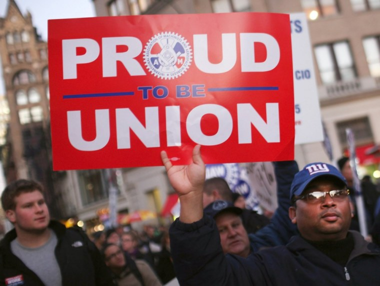 New York does not have the most union workers in the country (that goes to California), but it has the largest percentage of workers that are in unions.