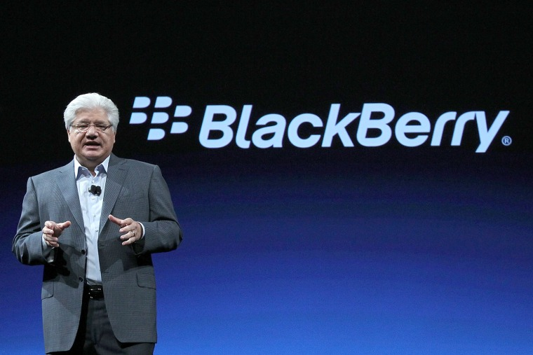 SAN FRANCISCO, CA - FILE:  Research in Motion President and co-CEO Mike Lazaridis delivers a keynote address at the BlackBerry Devcon Americas on October 18, 2011 in San Francisco, California. According to reports December 15, 2011, RIM, the maker of BlackBerry, reported profits that beat forecasts, but the stock price dropped after a weak future guidance was issued by the company.  (Photo by Justin Sullivan/Getty Images)