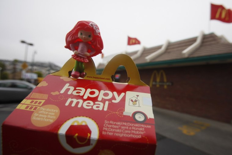 The San Francisco law to ban including toys with children's meals is targeted at McDonald's Happy Meals.