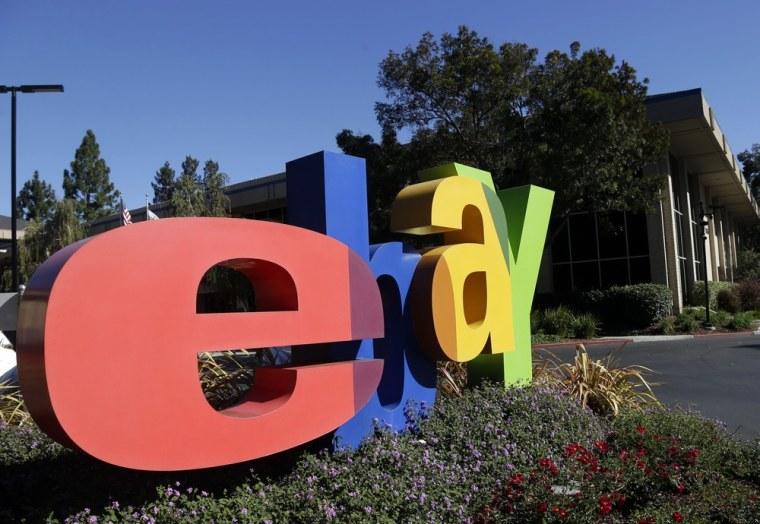 EBay's company headquarters in San Jose, Calif.