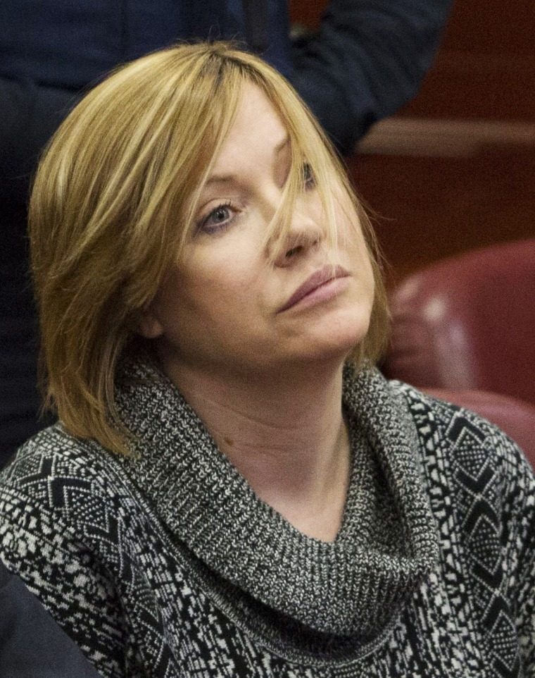 Anna Gristina sits in the Manhattan Supreme Court for sentencing in New York, Nov. 20, 2012.