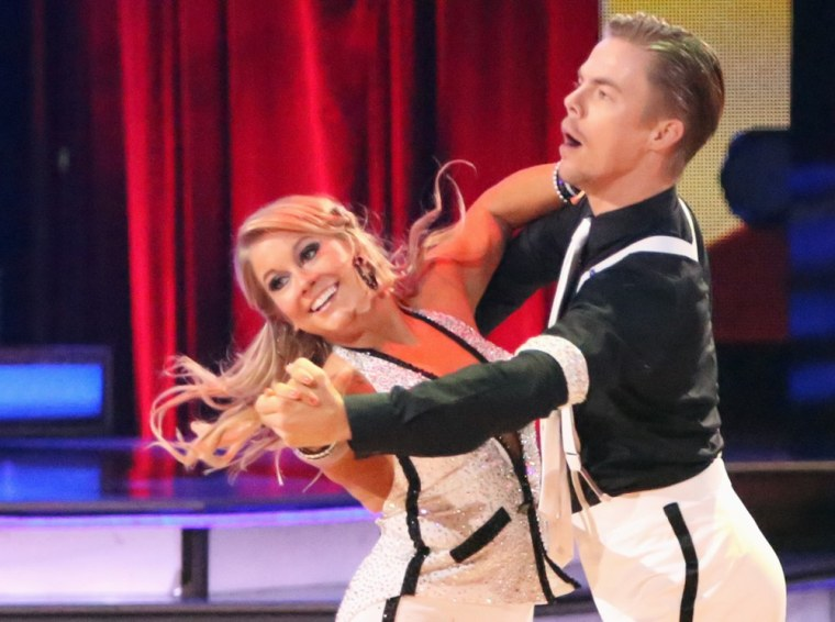 Shawn Johnson and Derek Hough danced their week three quickstep again in the finals and displeased the judges by breaking the rules.