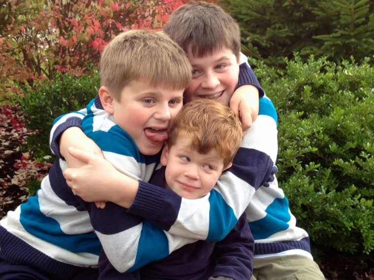 The Murphy Boys just wanna have fun (in their holiday pic): Sean 12, Matthew, 10, and Ryan, 4.