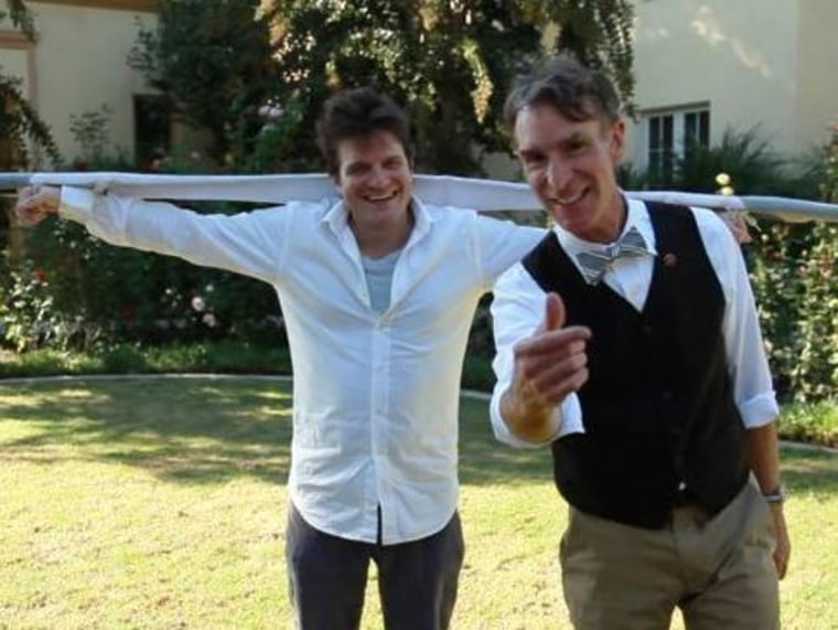 Bill Nye and Lucien Vattel