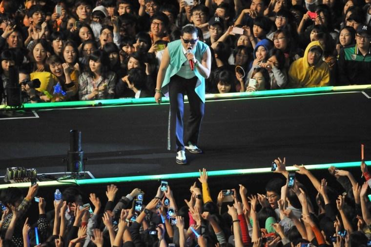 PSY in concert in Seoul, Korea.