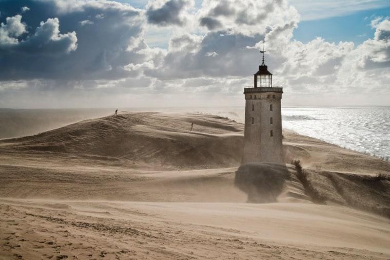 Rubjerg Knude, a lighthouse in a shifting sand dune Rubjerg, Hjoerring, North Jutland, Denmark