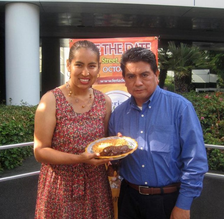 Lourdes Juarez and Pedro Ramos are happily married, but there's still some debate in their household about whose side of the family makes the best mole.