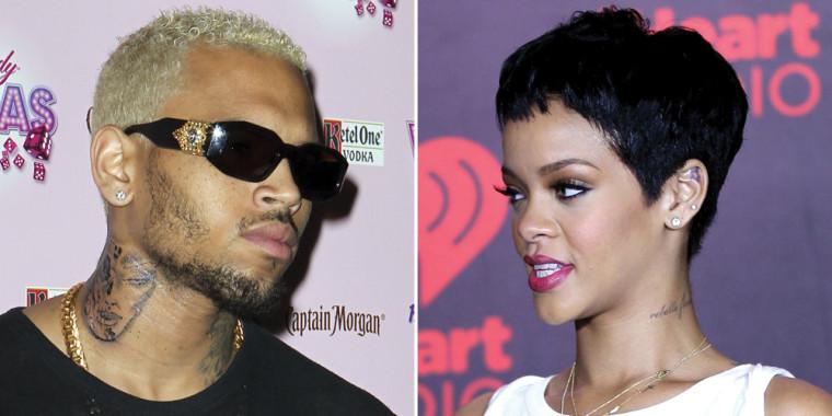 Chris Brown and Rihanna.
