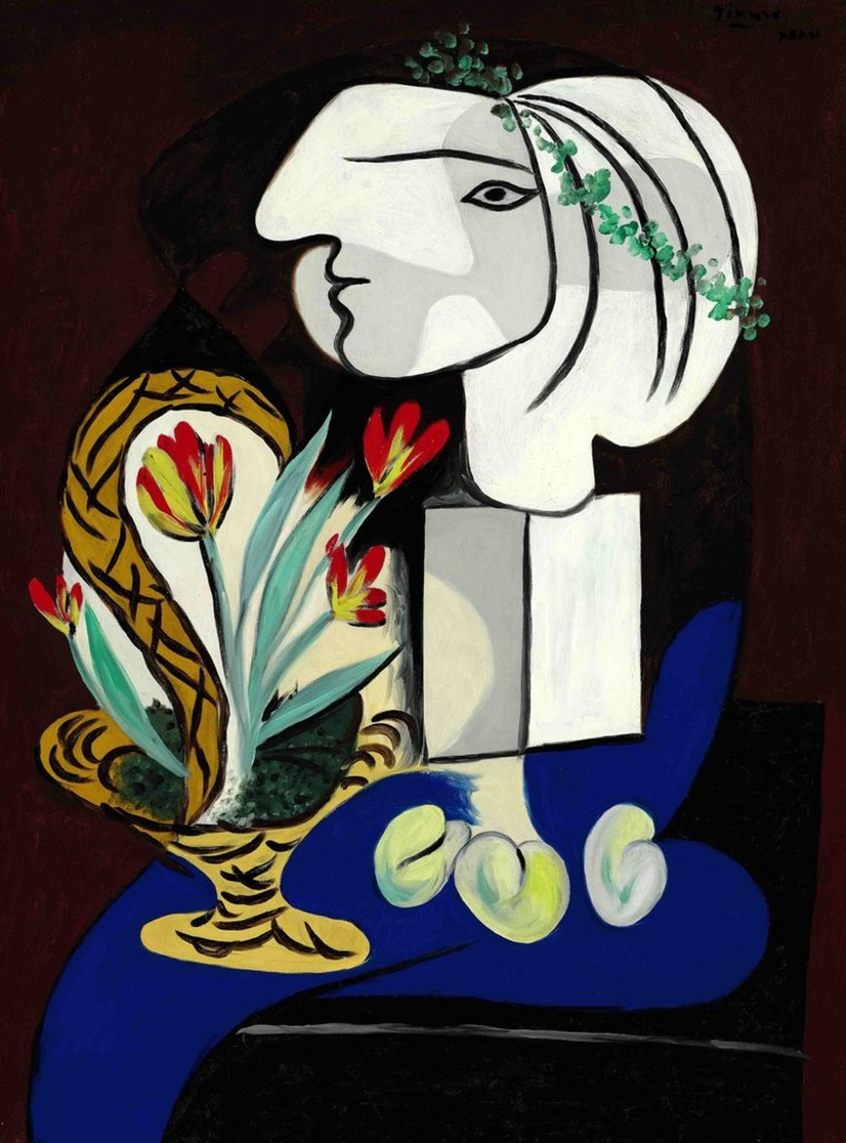 """Pablo Picasso's """"Nature Morte Aux Tulipes"""" is expected to sell for at least $35 million at auction."""