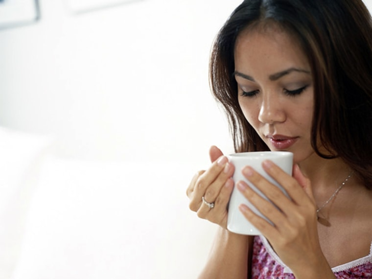 A steamy drink before bed is a good idea, but make sure it's sugar- and caffeine-free. Warm milk, anyone?