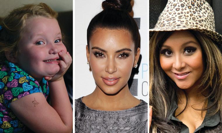 Reality TV has made stars of Alana Thompson, Kim Kardashian and Nicole Polizzi.