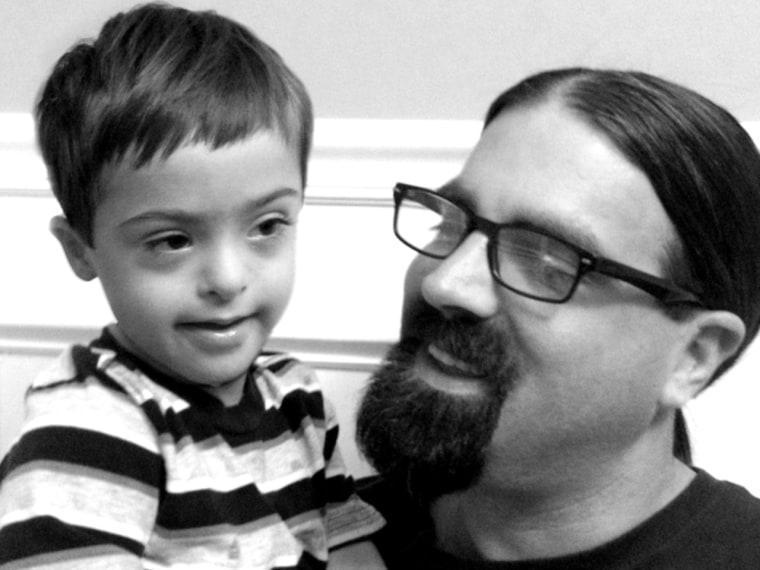 Dan Niblock and son Ozzie.