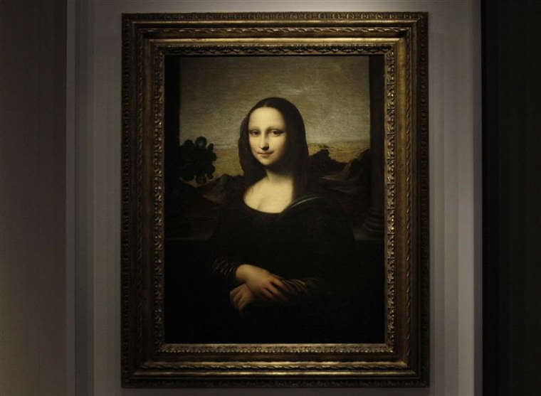 """The \""""Mona Lisa\"""" portrait presented in Geneva in Sept. 2012."""