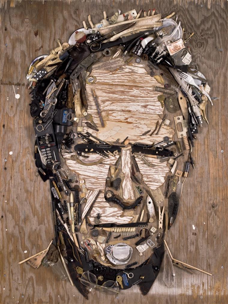 A Mecier portrait of Clint Eastwood.