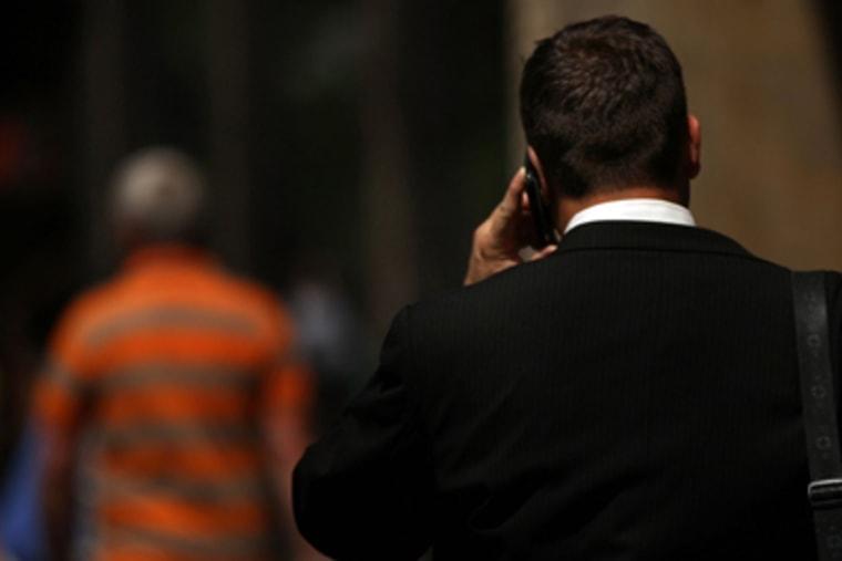 Man on cellphone