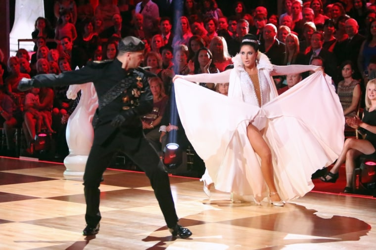 Mark Ballas and Bristol Palin played the Black King and White Queen on Monday's show.