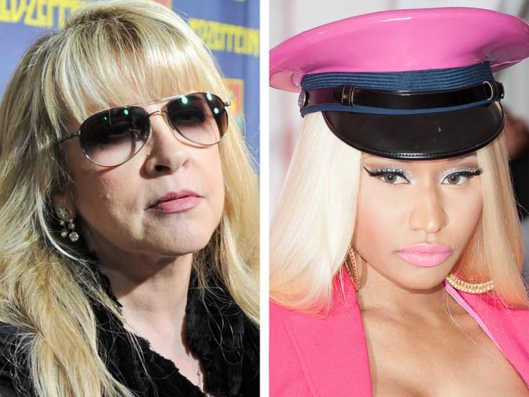 Stevie Nicks, Nicki Minaj.