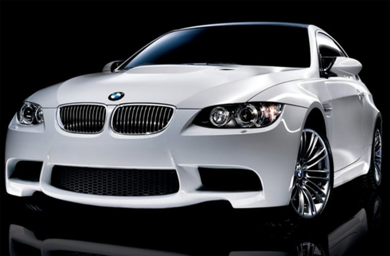 This white BMW is sporting the color most popular with auto buyers this year.