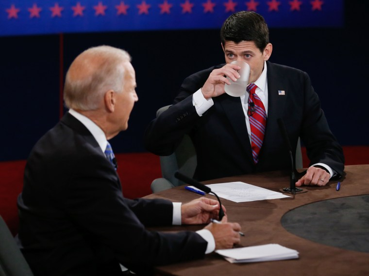Paul Ryan's frequent sips of water drew wide Web comment.